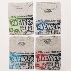 4 XXL Avengers Funko Pop subscription shirts